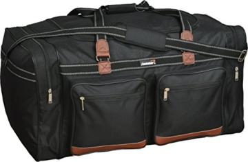 Foolsgold Extra große 120L Reisetasche Holdall Tasche Schwarz - 1