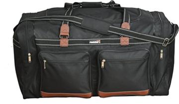 Foolsgold Extra große 120L Reisetasche Holdall Tasche Schwarz - 4