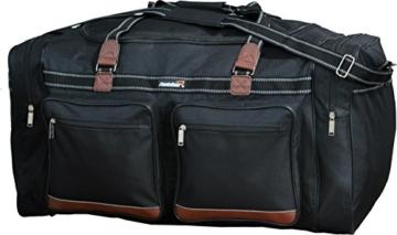 Foolsgold Extra große 120L Reisetasche Holdall Tasche Schwarz - 5