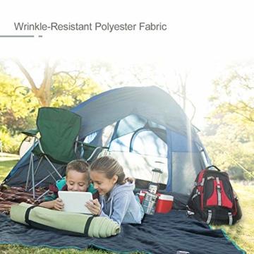 Forceatt Picknickdecke wasserdichte, Outdoor Picknick Decke 140cm * 200cm, Schnelltrocknend und Leicht zu Reinigen, Sehr Geeignet für Camping, Outdoor, Picknick, Yoga, Reisen - 7