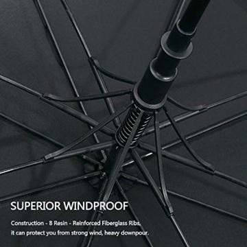 G4Free 54/62/68 Inch Automatische Öffnen Golf Schirme Extra große Übergroß Doppelt Überdachung Belüftet Winddicht wasserdichte Stock Regenschirme - 4