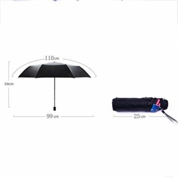 Gfbyq Doppel-Sonnenschirme, Sonnenschutz-UV-Sonnenschirme Doppelnutzung Der Koksfaltung Sunny Und Rain Doppeltem Verwendungszweck Verbessert (Farbe : B) - 6