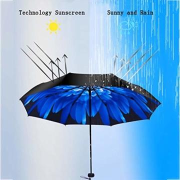 GFYS1201 Taschenschirm Doppel-Sonnenschirme, Sonnenschutz-UV-Sonnenschirme Doppelnutzung Der Koksfaltung Sunny Und Rain Doppeltem Verwendungszweck Verbessert (Color : E) - 2