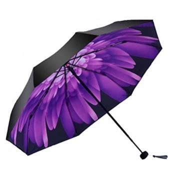 GFYS1201 Taschenschirm Doppel-Sonnenschirme, Sonnenschutz-UV-Sonnenschirme Doppelnutzung Der Koksfaltung Sunny Und Rain Doppeltem Verwendungszweck Verbessert (Color : E) - 1