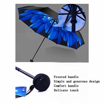 GFYS1201 Taschenschirm Doppel-Sonnenschirme, Sonnenschutz-UV-Sonnenschirme Doppelnutzung Der Koksfaltung Sunny Und Rain Doppeltem Verwendungszweck Verbessert (Color : E) - 5