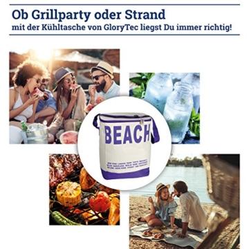 Glorytec XXL Kühltasche Lila - Kühltasche faltbar 28x18,5x35cm 20 Liter – Kuehltasche Perfekt für Camping und Grillfeste - 2