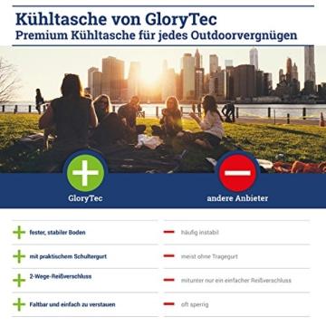 Glorytec XXL Kühltasche Lila - Kühltasche faltbar 28x18,5x35cm 20 Liter – Kuehltasche Perfekt für Camping und Grillfeste - 3