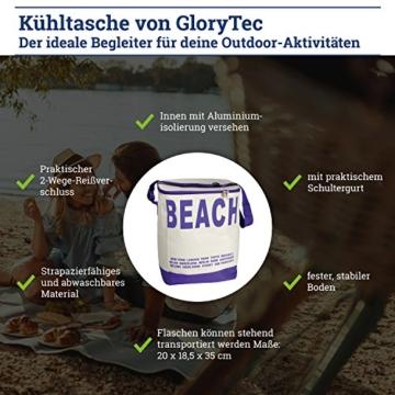 Glorytec XXL Kühltasche Lila - Kühltasche faltbar 28x18,5x35cm 20 Liter – Kuehltasche Perfekt für Camping und Grillfeste - 5