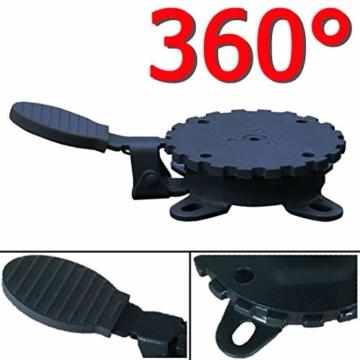 habeig 360° MECHANISMUS +++ für Ampelschirm 360 Grad schwenkbar drehbar Fußpedal Schirm - 4