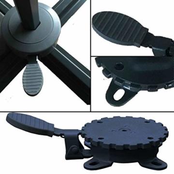 habeig 360° MECHANISMUS +++ für Ampelschirm 360 Grad schwenkbar drehbar Fußpedal Schirm - 5