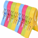 Handtuch Clip Strand, Strandtuch Clips,wäscheklammern Groß Handtuchklammer Strandtuchklammer Plastik Clips, Starker Windbreaker-Clip Für Wäsche Strandtuch Badetuch Teppich, Zufällige Farbe - 1