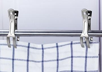 Handtuch Klammer,Strandtuch Clips Edelstahl Große Wäscheklammern für Tägliche Wäsche Strandtuch Badetuch Bettwäsche und dicke Kleidung 8.5cm 12packs - 7