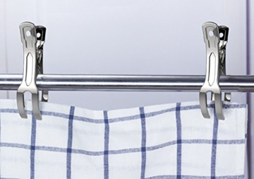 Handtuch Klammer,Strandtuch Clips Edelstahl Große Wäscheklammern für Tägliche Wäsche Strandtuch Badetuch Bettwäsche und dicke Kleidung 11cm 10packs - 6
