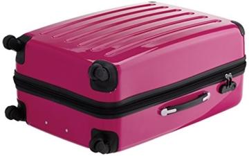 HAUPTSTADTKOFFER - Alex - 3er Koffer-Set Hartschale glänzend Unisex, (S, M & L), 235 Liter, Mehrfarbig (Apfelgrün-blau-Magenta) - 2