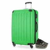 Hauptstadtkoffer - Spree Hartschalen-Koffer-XL Koffer Trolley Rollkoffer Reisekoffer Erweiterbar, 4 Rollen, TSA, 75 cm, 119 Liter, Apfelgrün inkl. Gepäckgurt - 1