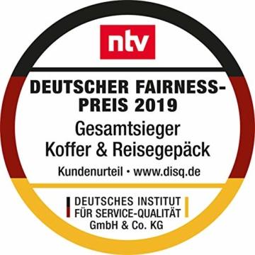 HAUPTSTADTKOFFER- TXL - leichtes Handgepäck mit Laptoptasche, Hartschalentrolley aus robustem Polypropylen, Business Trolley 55 cm, 40 L,TSA-Schloss, Schwarz - 2
