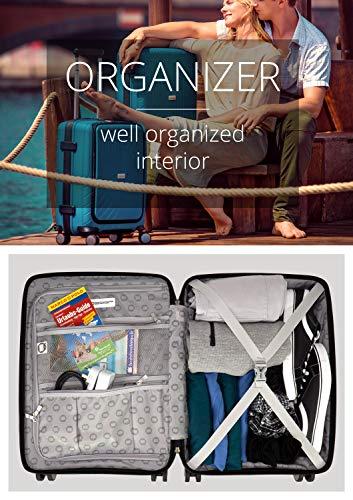 HAUPTSTADTKOFFER- TXL - leichtes Handgepäck mit Laptoptasche, Hartschalentrolley aus robustem Polypropylen, Business Trolley 55 cm, 40 L,TSA-Schloss, Schwarz - 3