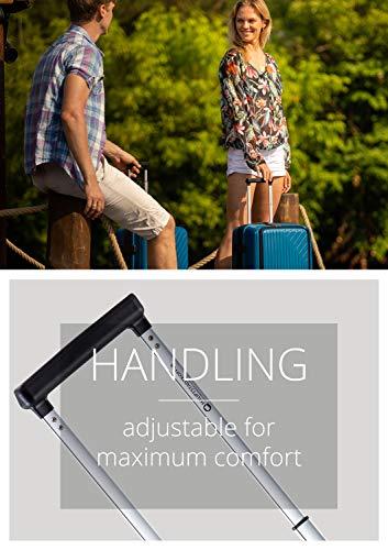 HAUPTSTADTKOFFER- TXL - leichtes Handgepäck mit Laptoptasche, Hartschalentrolley aus robustem Polypropylen, Business Trolley 55 cm, 40 L,TSA-Schloss, Schwarz - 4