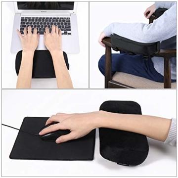 Healifty Armlehnenpolster – Stuhl-Armpolster aus Memory-Schaum, für Bürostuhl, Armlehnen, Gamingstuhl, ergonomisch für Ellbogen und Unterarm-Druckentlastung, Anti-Rutsch-Unterseite, 2 Stück - 2