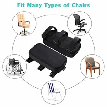 Healifty Armlehnenpolster – Stuhl-Armpolster aus Memory-Schaum, für Bürostuhl, Armlehnen, Gamingstuhl, ergonomisch für Ellbogen und Unterarm-Druckentlastung, Anti-Rutsch-Unterseite, 2 Stück - 7