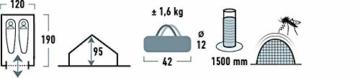 High Peak Hauszelt Minipack, Campingzelt für 2 Personen, Festivalzelt mit Wannenboden, 1500 mm wasserdicht, Ventilationssystem, Moskitoschutz, Leichtgewicht und kleines Packmass - 2
