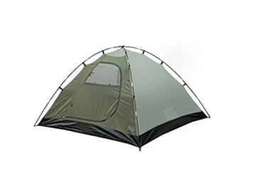 High Peak Kuppelzelt Nevada 3, Campingzelt mit Vorbau, Iglu-Zelt für 3 Personen, doppelwandig, 2.000 mm wasserdicht, Ventilationssystem, Wetterschutz-Eingang, Moskitoschutz - 4