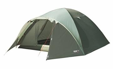High Peak Kuppelzelt Nevada 3, Campingzelt mit Vorbau, Iglu-Zelt für 3 Personen, doppelwandig, 2.000 mm wasserdicht, Ventilationssystem, Wetterschutz-Eingang, Moskitoschutz - 1