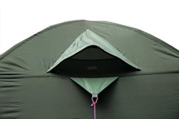 High Peak Kuppelzelt Nevada 3, Campingzelt mit Vorbau, Iglu-Zelt für 3 Personen, doppelwandig, 2.000 mm wasserdicht, Ventilationssystem, Wetterschutz-Eingang, Moskitoschutz - 7