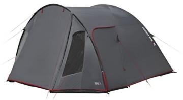 High Peak Kuppelzelt Tessin 5, Campingzelt mit Vorbau, 2 Eingänge, Familien-Zelt für 5 Personen, extra hoher Eingang, doppelwandig, 3.000 mm wasserdicht, Ventilationssystem, Moskitoschutz - 2