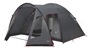 High Peak Kuppelzelt Tessin 5, Campingzelt mit Vorbau, 2 Eingänge, Familien-Zelt für 5 Personen, extra hoher Eingang, doppelwandig, 3.000 mm wasserdicht, Ventilationssystem, Moskitoschutz - 1