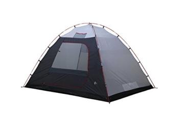 High Peak Kuppelzelt Tessin 5, Campingzelt mit Vorbau, 2 Eingänge, Familien-Zelt für 5 Personen, extra hoher Eingang, doppelwandig, 3.000 mm wasserdicht, Ventilationssystem, Moskitoschutz - 6