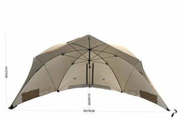 Homecall Strandschirm mit Fenster und Windschutz - (Khaki) - 3