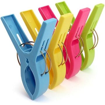 igadgitz Home U6815 Kunststoff Wäscheklammern Groß Quilt Clips Handtuch Klammern für Tägliche Wäsche, Schwere Badetuch, Sonnenbank, Strandtuch, Dicke Teppich etc - 4 Stück - 1