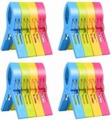 """ILYEVER Fashion Color Strandtuchklammern für Strandstuhl oder Poolliege auf Ihrer Cruise – Jumbo-Größe – halten Sie Ihr Handtuch Davon ab, wegzublasen, Kleidungslinien 4.7"""" Single Thickness - 1"""