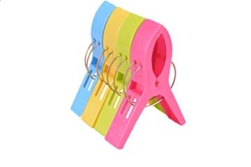 ILYEVER Fashion Color Strandtuchklammern für Strandstuhl oder Poolliege auf Ihrer Cruise – Jumbo-Größe – halten Sie Ihr Handtuch Davon ab, wegzublasen, Kleidungslinien 4.7