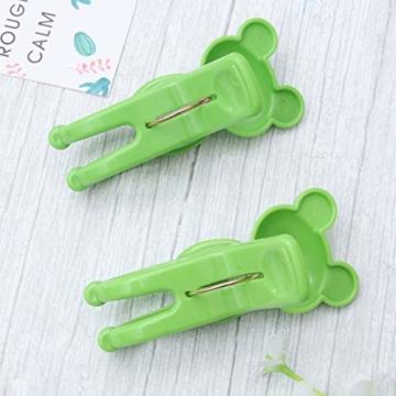 IMIKEYA 4 Stück Kunststoff Cartoon Frosch Form Clips Strand Handtuch Klammern Kleidung Steppdecke Klammern Jumbo Größe (grün) - 7
