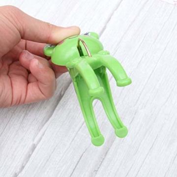 IMIKEYA 4 Stück Kunststoff Cartoon Frosch Form Clips Strand Handtuch Klammern Kleidung Steppdecke Klammern Jumbo Größe (grün) - 8