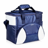 INTEY Kühltasche 20L Kühlbox Camping Isoliertasche Kühlkorb Thermotasche Campingtasche Isolierbox Picknicktasche, Blau/Grün - 1
