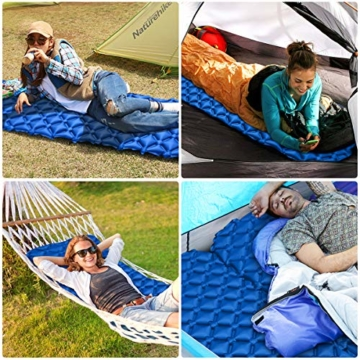 IREGRO Camping Isomatte Aufblasbare Isomatte Für Rucksacktouren, Reisen und Wandern,Air Cell Design für bessere Stabilität - 3