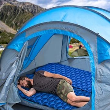 IREGRO Camping Isomatte Aufblasbare Isomatte Für Rucksacktouren, Reisen und Wandern,Air Cell Design für bessere Stabilität - 7