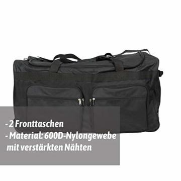 JEMIDI XXXL Riesen Reisetasche nur 3,6kg 180L Reisegepäck Sporttasche XL Schwarz mit Leichtlaufrollen - 2