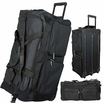 JEMIDI XXXL Riesen Reisetasche nur 3,6kg 180L Reisegepäck Sporttasche XL Schwarz mit Leichtlaufrollen - 3