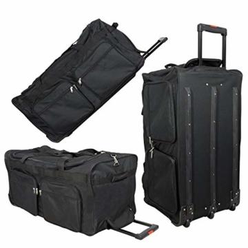 JEMIDI XXXL Riesen Reisetasche nur 3,6kg 180L Reisegepäck Sporttasche XL Schwarz mit Leichtlaufrollen - 4
