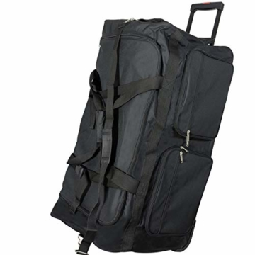 JEMIDI XXXL Riesen Reisetasche nur 3,6kg 180L Reisegepäck Sporttasche XL Schwarz mit Leichtlaufrollen - 1