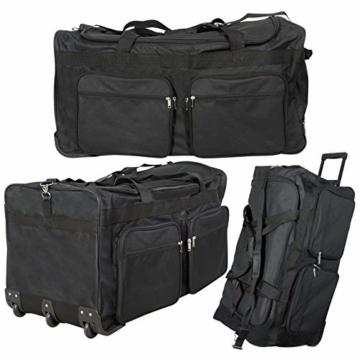 JEMIDI XXXL Riesen Reisetasche nur 3,6kg 180L Reisegepäck Sporttasche XL Schwarz mit Leichtlaufrollen - 5