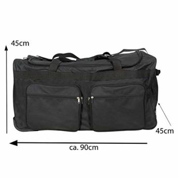 JEMIDI XXXL Riesen Reisetasche nur 3,6kg 180L Reisegepäck Sporttasche XL Schwarz mit Leichtlaufrollen - 7