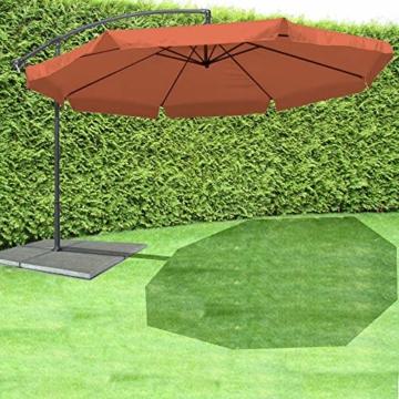 JOM Ampelschirm 350 cm Sonnenschirm Gartenschirm Terassenschirm mit Kurbel verstellbar UV Schutz - 2