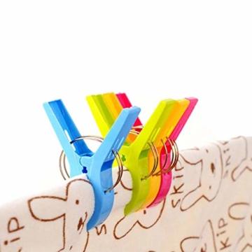 July Miracle Strandtuch Clips, 8 Große Winddichte Kunststoff-Badetuch-Clips, Quilt Clamps Wäscheklammern für Pool-Stühle, Wäsche, Sonnenliegen und Liegestühle - 4