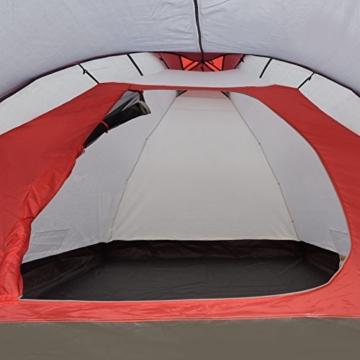 JUSTCAMP Campingzelt Scott 4, mit Vorraum; Iglu-Zelt für 4 Personen (doppelwandig) - grau - 2