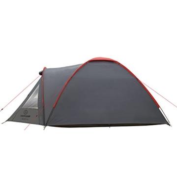 JUSTCAMP Campingzelt Scott 4, mit Vorraum; Iglu-Zelt für 4 Personen (doppelwandig) - grau - 5